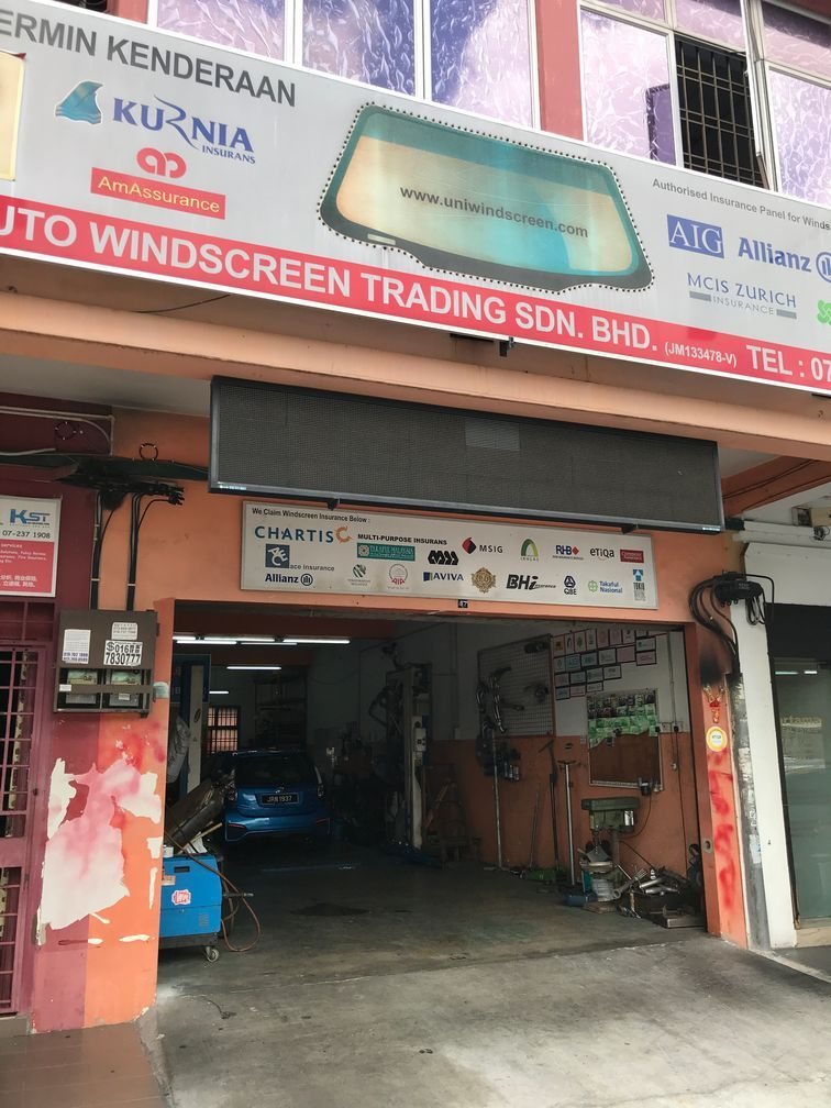 Unwindscreen's branch : Bukit Indah workshop